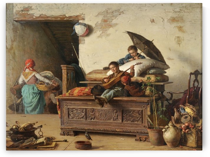Children playing music by Antonio Ermolao Paoletti