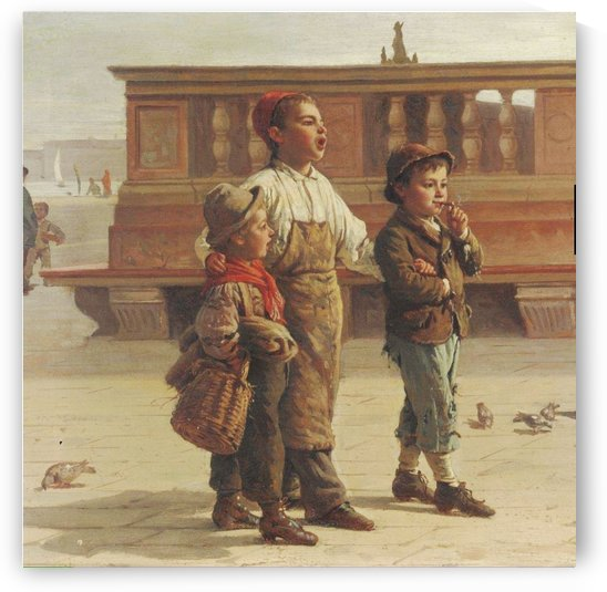 A group of three children by Antonio Ermolao Paoletti