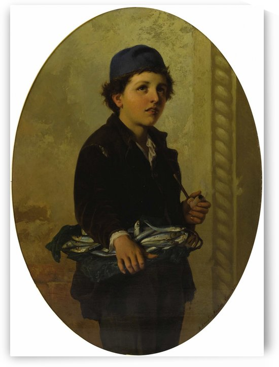 Portrait of a young fisherman by Antonio Ermolao Paoletti
