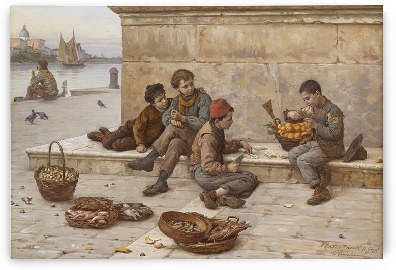 A bunch of young street vendors by Antonio Ermolao Paoletti