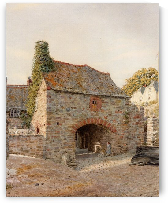 Old buildings at Kingswear South Devon by George Price Boyce