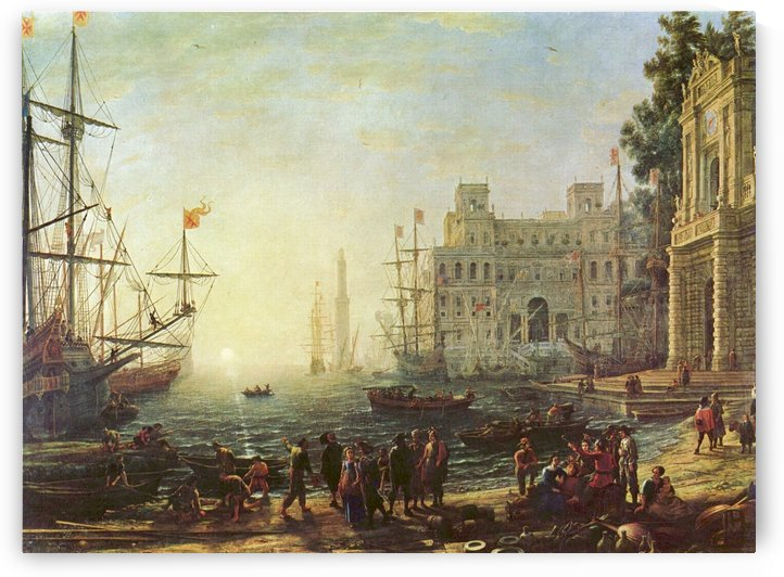Seaport with the Villa Medici by Claude Lorrain