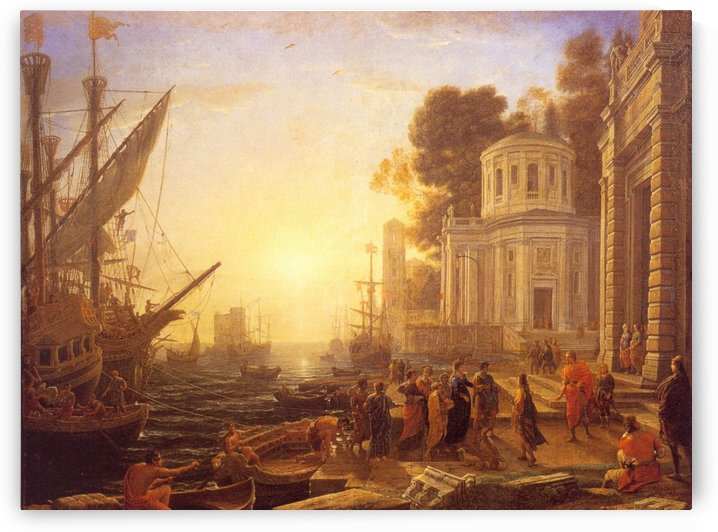 Port in the landing stage of Cleopatra at Tarsus by Claude Lorrain