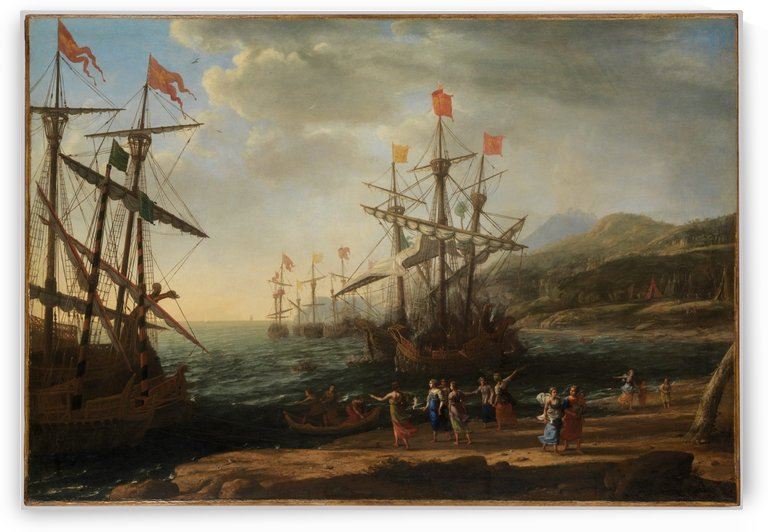 The Trojan Women Setting Fire to Their Fleet by Claude Lorrain