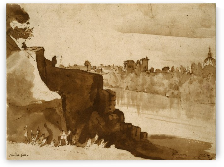 Pens and Haarlem by Claude Lorrain
