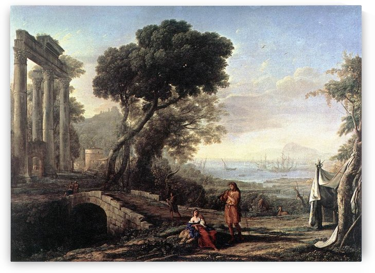 Embarquement de la reine de Saba by Claude Lorrain