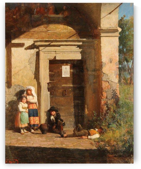 Nens sota la porxada by Josep Tapiro Baro