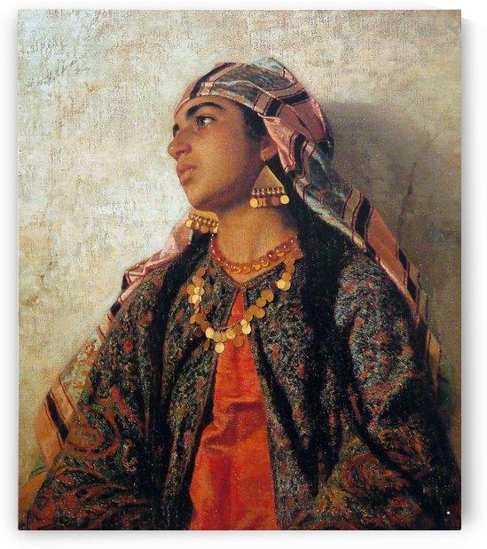 Profile of an Oriental woman by Josep Tapiro Baro