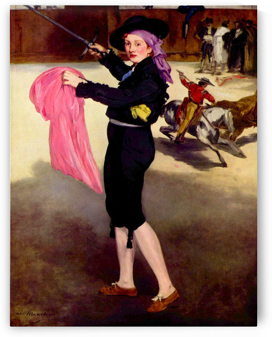 Mlle. Victorine in the Costume of a Matador by Manet by Manet