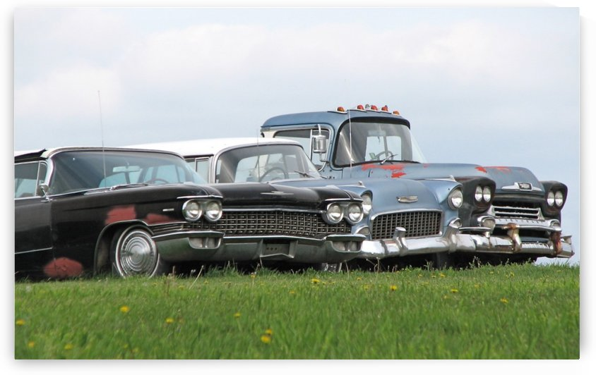 Old Cars on Grave Run Road VP2 by Vicki Polin