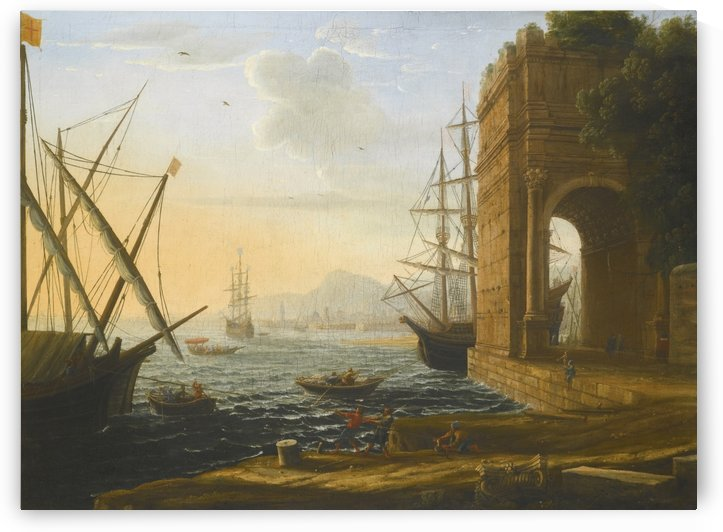 Boats coming to shore by Claude Lorrain
