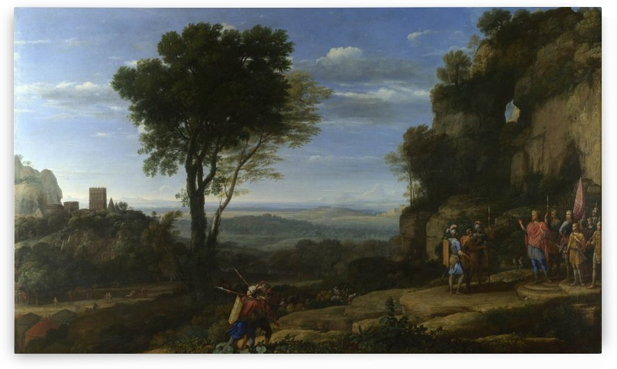 Landscape With David At The Cave Of Adullam by Claude Lorrain