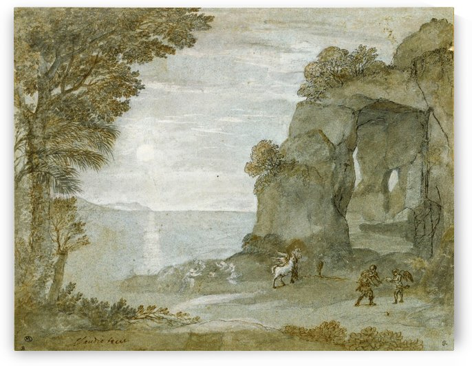 Coast View with Perseus and the Origin of Coral by Claude Lorrain