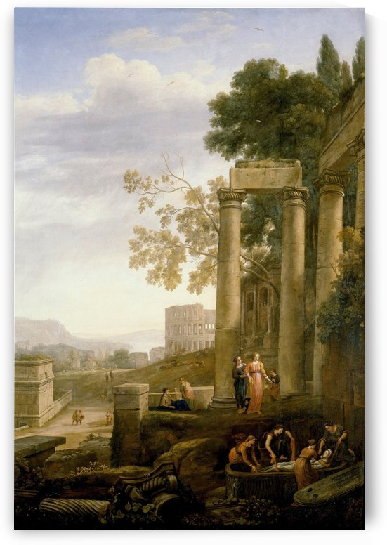Landscape with Burial of St. Serapia by Claude Lorrain