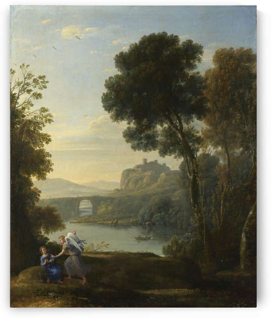 Landscape With Hagar And The Angel by Claude Lorrain