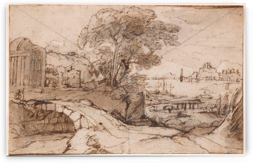 Paysage de bord de mer italien by Claude Lorrain