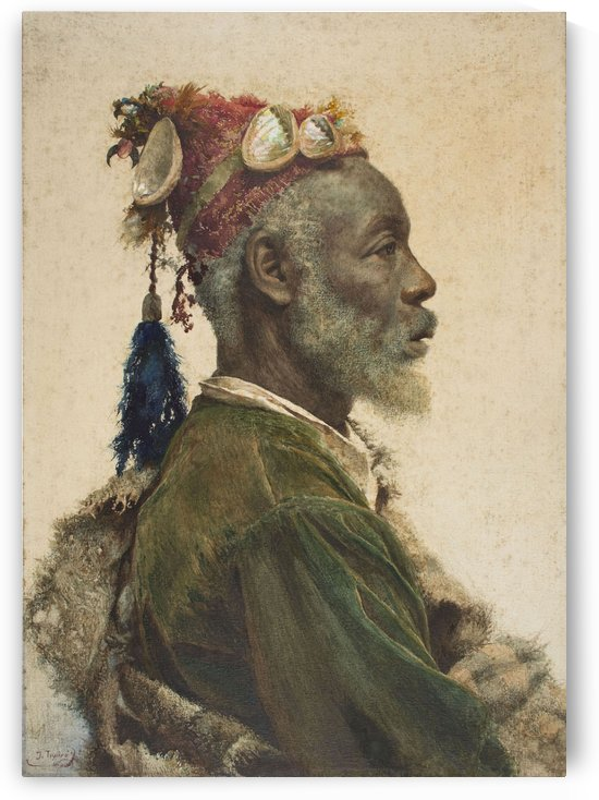 An african man with a red hat by Josep Tapiro Baro
