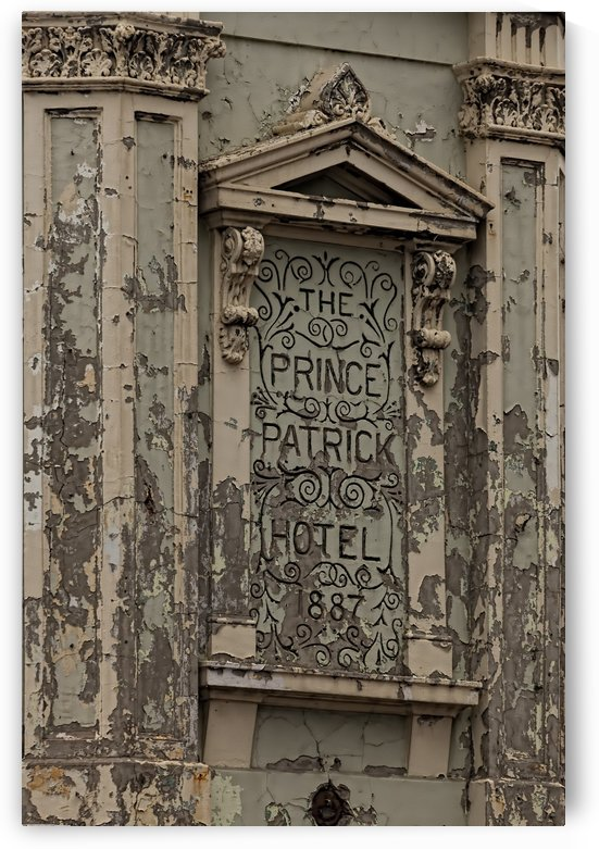 Hotel Sign with Flaking Paint by Maxwell Jordan