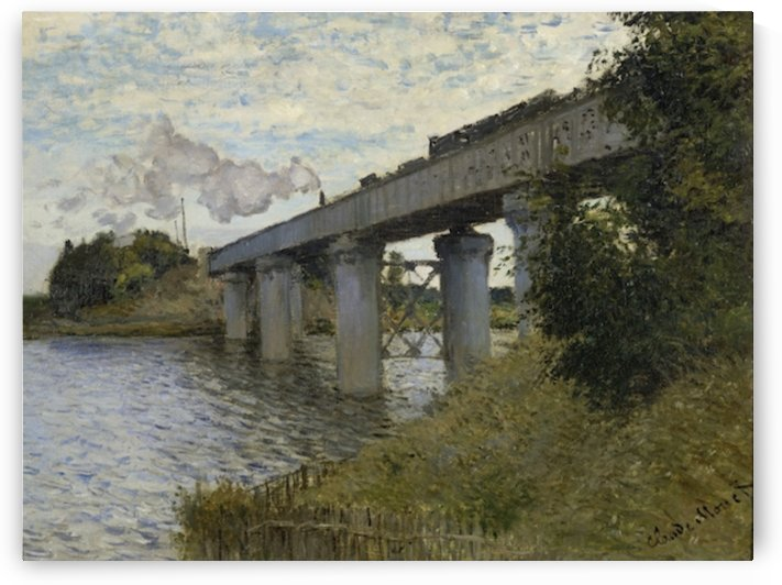 Monet - The Railroad bridge in Argenteuil by