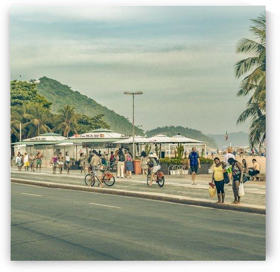 Copacabana Sidewalk Rio de Janeiro Brazil Print by Daniel Ferreia Leites Ciccarino