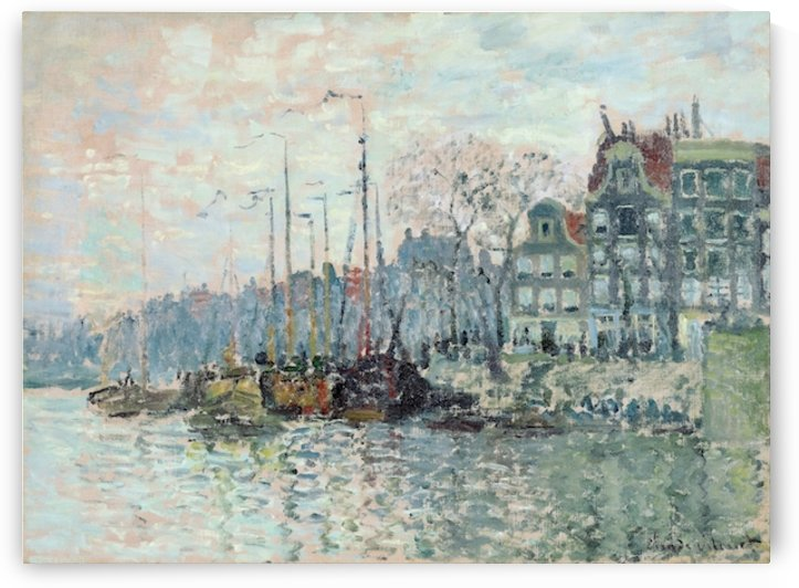 Monet - View of the Kromme Waal in Amsterdam by