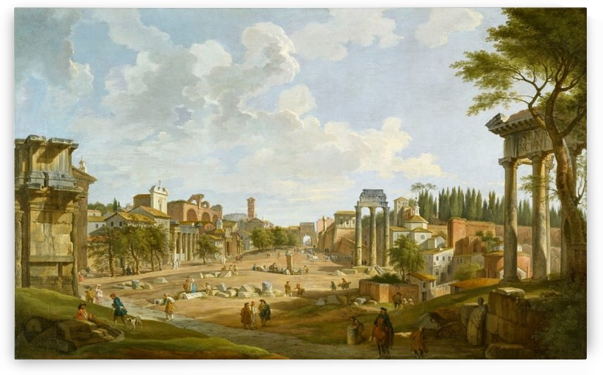 View of the Roman Forum, 1747 by Giovanni Paolo Panini