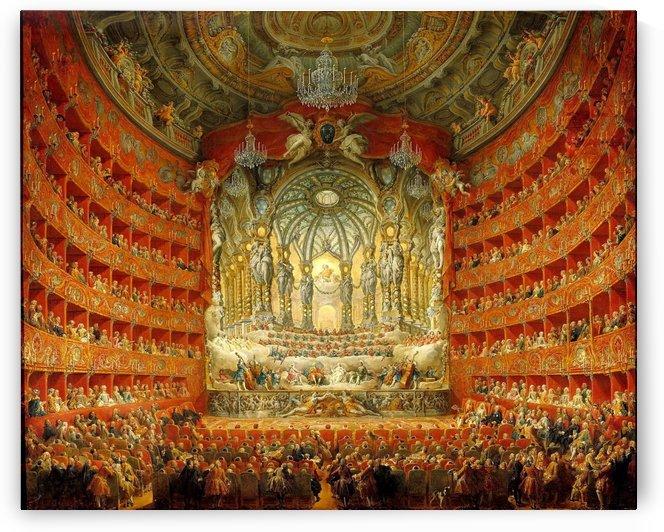 Festa in Teatro a Roma by Giovanni Paolo Panini