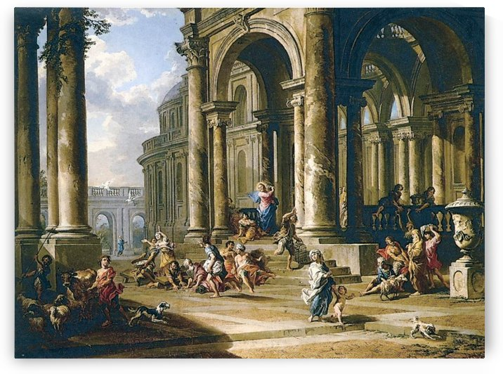Expulsion of the Moneychangers from the Temple by Giovanni Paolo Panini