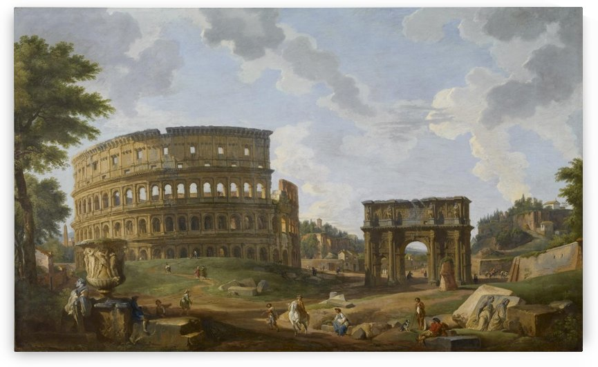 The colosseum by Giovanni Paolo Panini