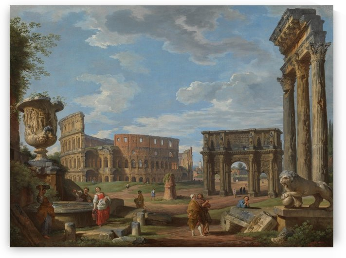 Colosseum and the Arch of Constantine by Giovanni Paolo Panini