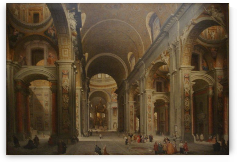 Interior of St. Peter's, Rome by Giovanni Paolo Panini