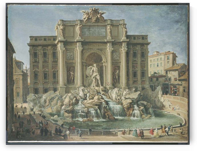 Fountain of Trevi, Rome by Giovanni Paolo Panini