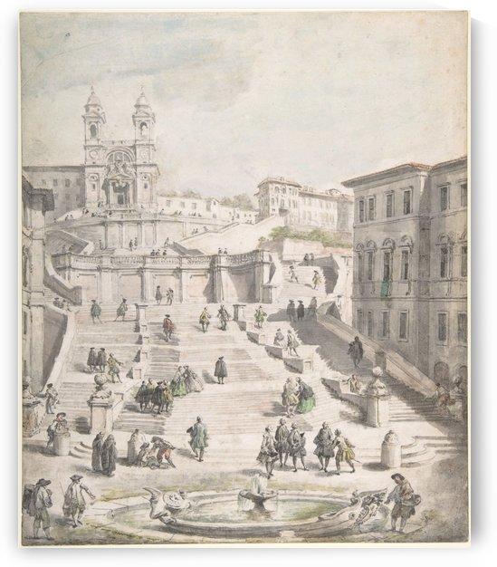 Scalinata della Trinita dei Monti by Giovanni Paolo Panini