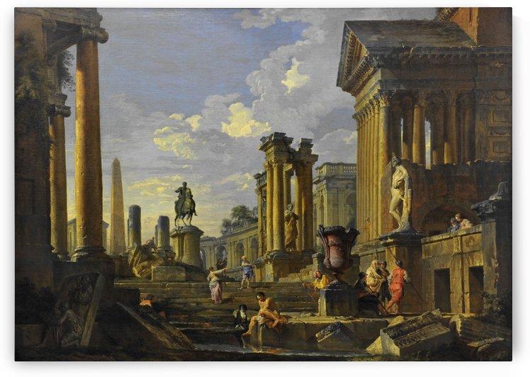 Ruines a l'obelisque by Giovanni Paolo Panini