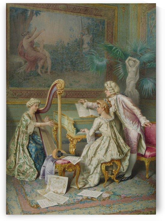 Rococo scene by Francesco Ballesio