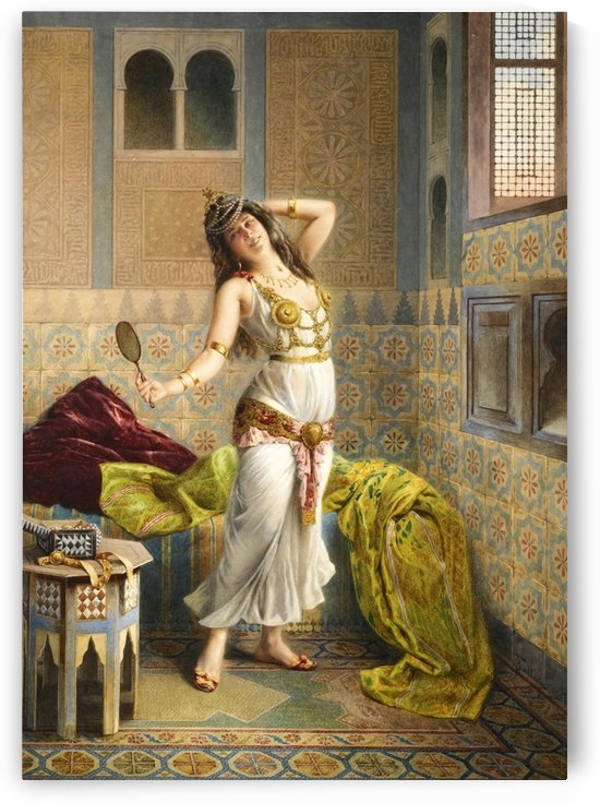 The young harem dancer by Francesco Ballesio