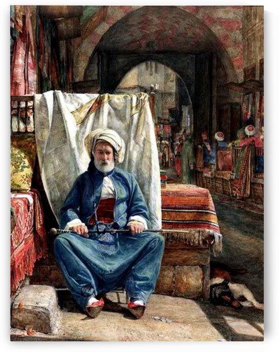 A man dressed in blue by Francesco Ballesio