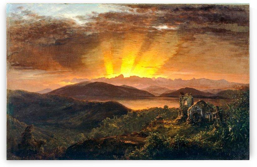 Sunrise on a valey by Frederic Edwin Church