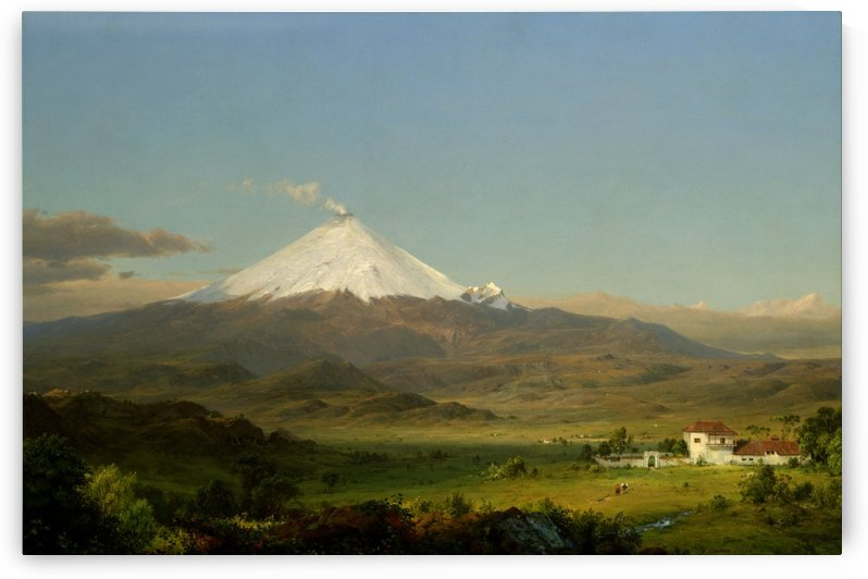 A distant volcano by Frederic Edwin Church