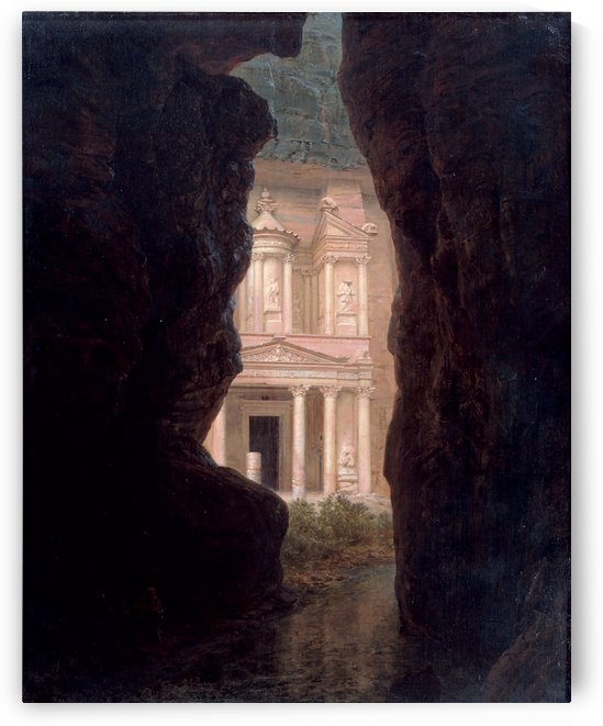 A withe house seen from a cave by Frederic Edwin Church