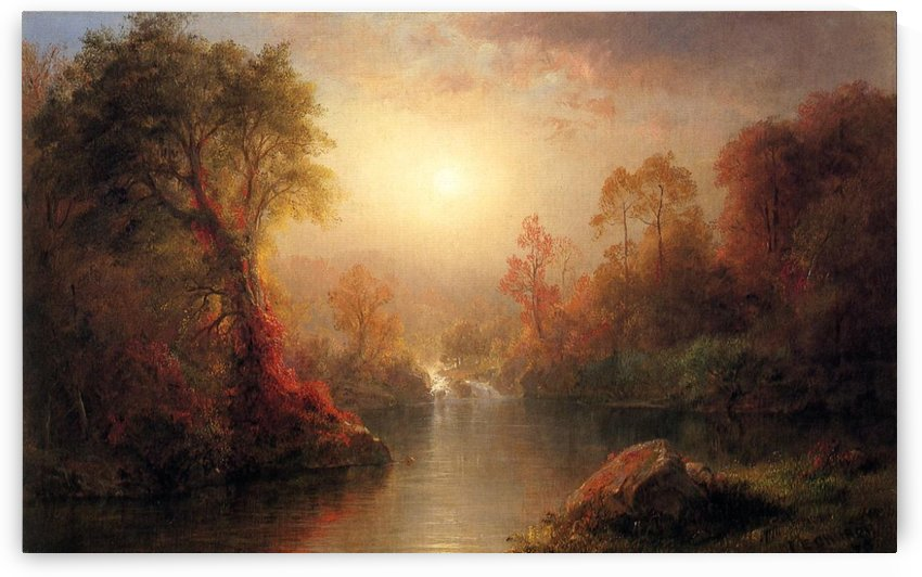 Wilderness and Rainy season by Frederic Edwin Church
