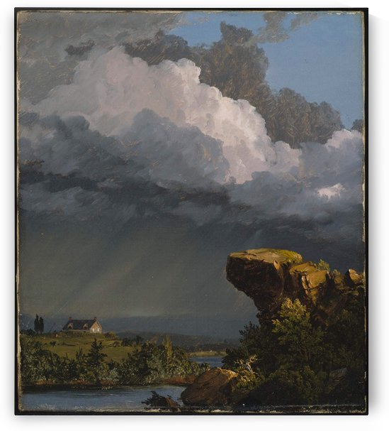 A Passing Storm. 1849 by Frederic Edwin Church
