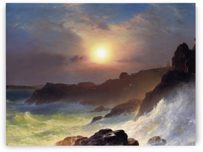 Hudson river school at Twilight by Frederic Edwin Church