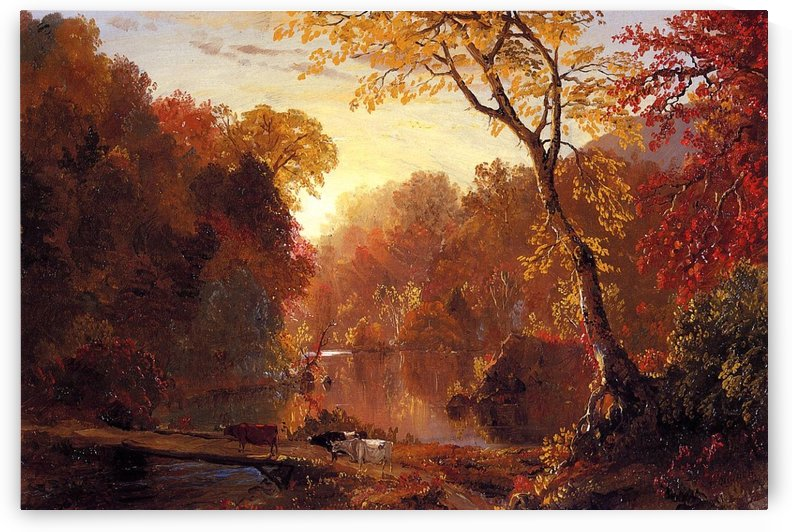 Autumn in North America 1856 by Frederic Edwin Church