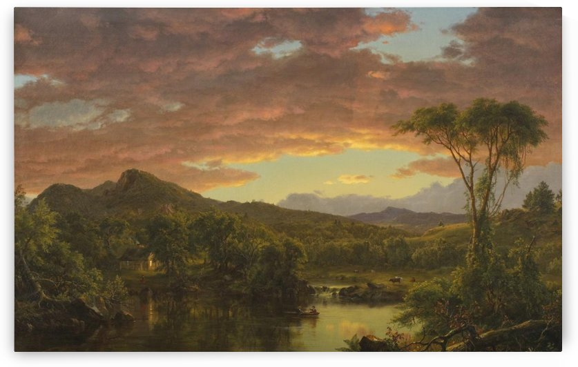 A Country Home, 1854 by Frederic Edwin Church