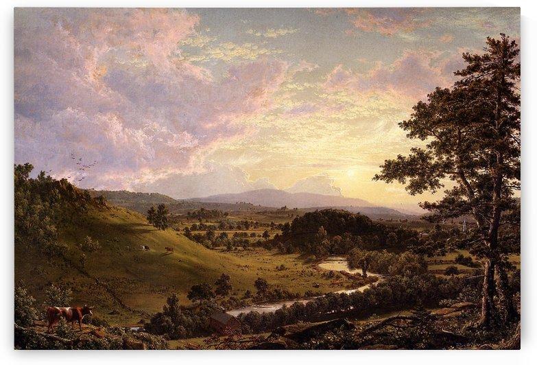 Stockbridge Mass 1847 by Frederic Edwin Church