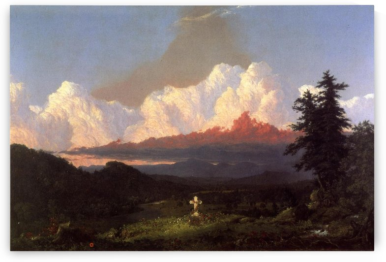 To the Memory of Cole 1848 by Frederic Edwin Church