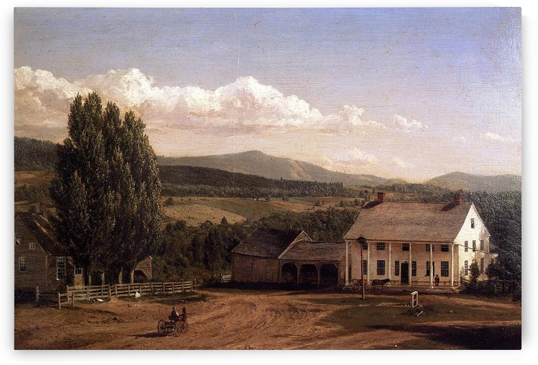 View in Pittsford Vt 1848 by Frederic Edwin Church