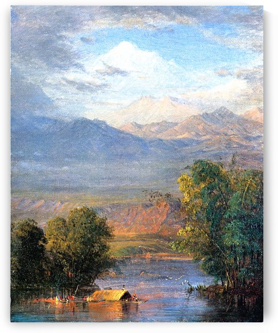 The Magdalena River Equador by Frederic Edwin Church