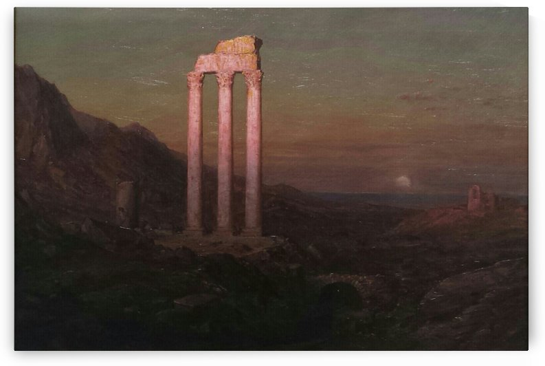 Moonrise Over Greece by Frederic Edwin Church